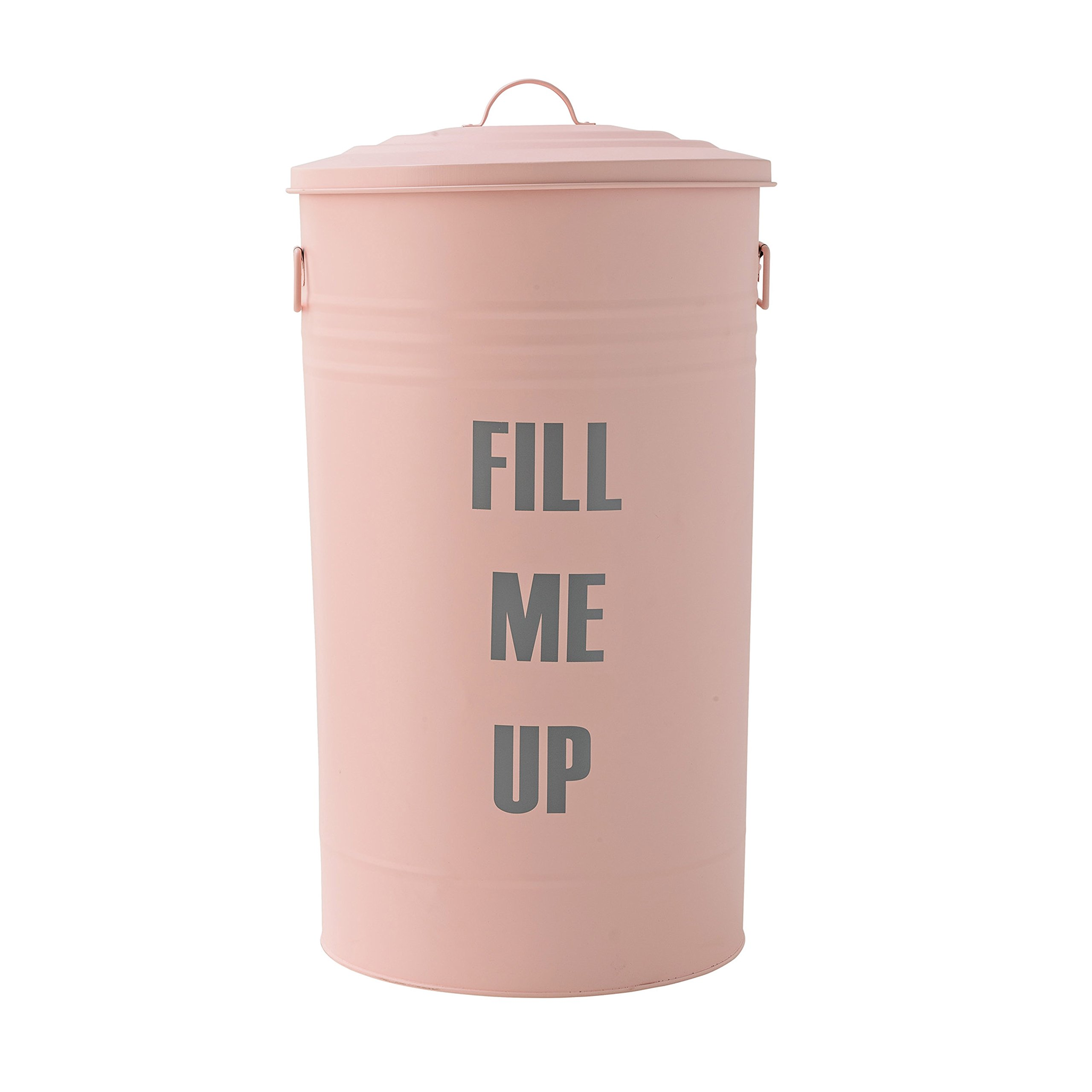 Rose and Grey Fill Me Up Metal Trash Can