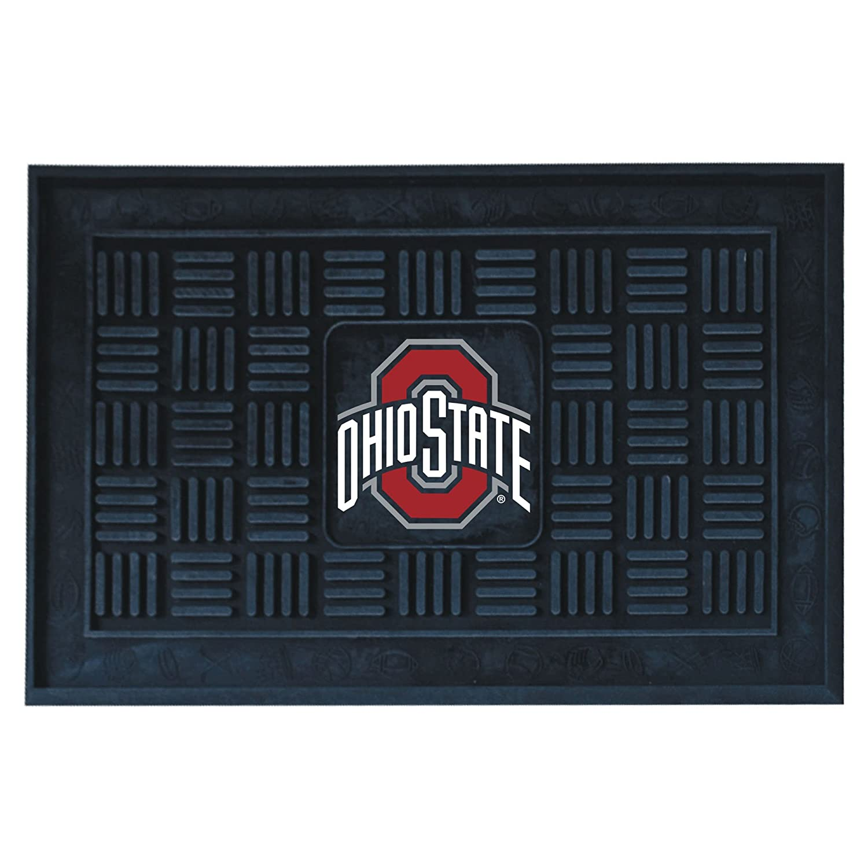 FANMATS NCAA Ohio State University Buckeyes Vinyl Door Mat