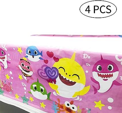 Amazon.com: Juego de 4 manteles de tiburón rosa para la ...