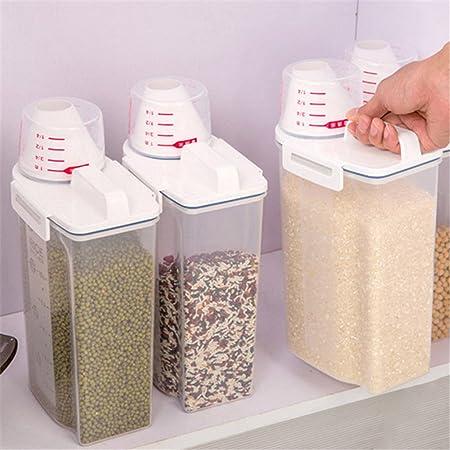 Gorgebuy 2 Kg Kitchen Sealed Storage Container Moisture Proof Storage  Barrels Flour Spice And Rice