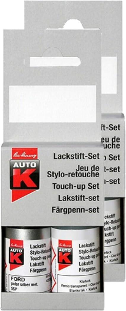 Kwasny 2x Auto K Lackstift Lack Stift 2 Schicht Original Farbton Shadow Blue Ld5q 9 Ml Auto