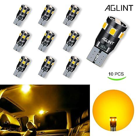 AGLINT T10 W5W Bombillas LED Coche 9SMD 2835 LED 2835 Cuña CANBUS Extremadamente Brillante Sin Error