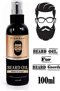 The Real Man Beard Growth Oil 100 Percent Organic Beard And