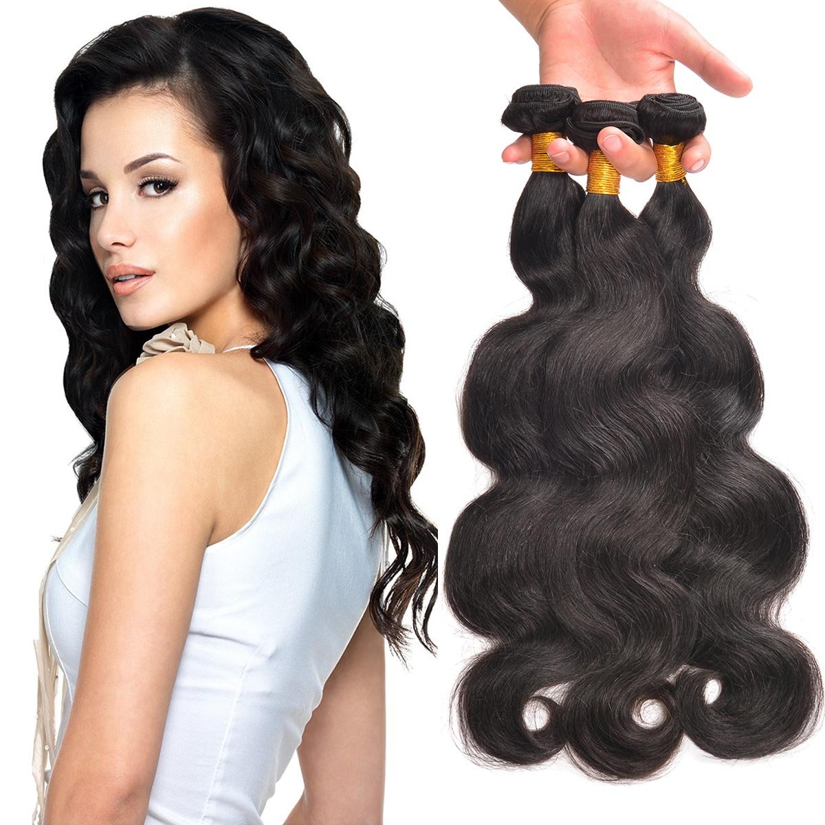 Malaysian Hair Extensions Human Weave Unprocessed Body Wave Bundles