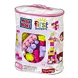 MATTEL Mega Bloks Big Building Bag, Pink, 80 Piece