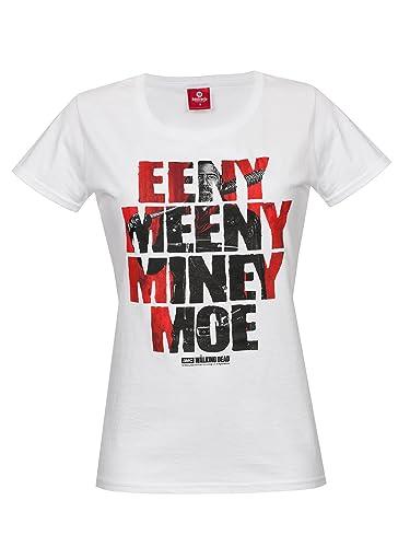 The Walking Dead Eeny Meeny Miney Moe Camiseta Mujer Blanco