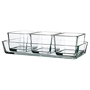 Ikea Mixtur Set of 4 Oven/serving Dish Clear Glass