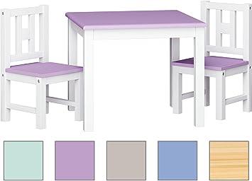 Ib Style Kindersitzgruppe Lucacolors Set 1x Tisch 2x Stühle