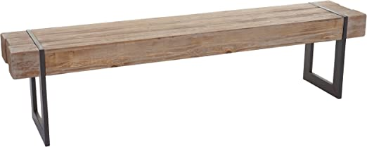 Mendler Sitzbank HWC A15, Esszimmerbank Bank, Tanne Holz rustikal massiv ~ 160cm