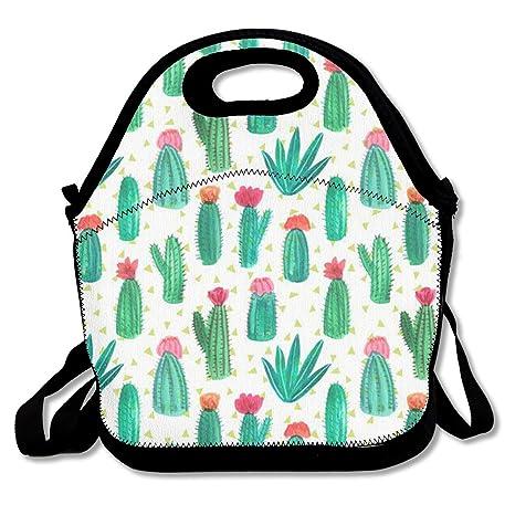 Amazon.com: Cute Cactus bolsas de almuerzo Lonchera Bolsa ...