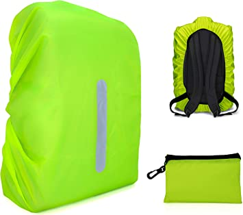 Backpack Rain Cover KATOOM 2 Pack Waterproof Rucksack Cover Reflective Rainproof Cycle Bag Cover Dustproof Safety Pouch for Camping Hiking Cycling Traveling Outdoor Activities