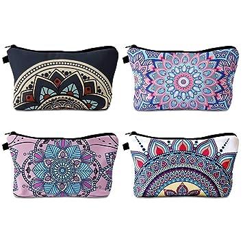 Amazon.com: PORTOWN Bolsa de cosméticos, 4 estilos, bolsa de ...