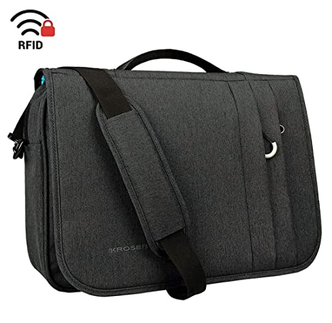 719510dfb339 KROSER Briefcase Laptop Messenger Bag 16 inch Laptop Bag Water-Repellent Flapover  Computer Case Business
