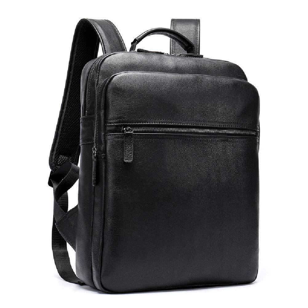 メンズ本革手作り17インチラップトップバックパックリュックサックマルチポケット旅行スポーツバッグ   B07RB37J7F