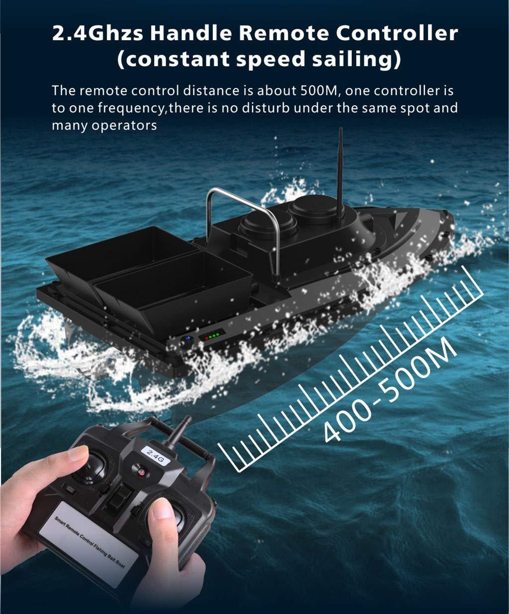 DingLong Fischfinder Futterboot,Angeln RC Boot Fishing Bait Boat 2,4 G,High Speed Baitboat 500m,Fischk/öder 1.5kg,Hoch Wasserdicht K/öderboot mit Yaw-Korrektur Funktion /& Doppelmotor