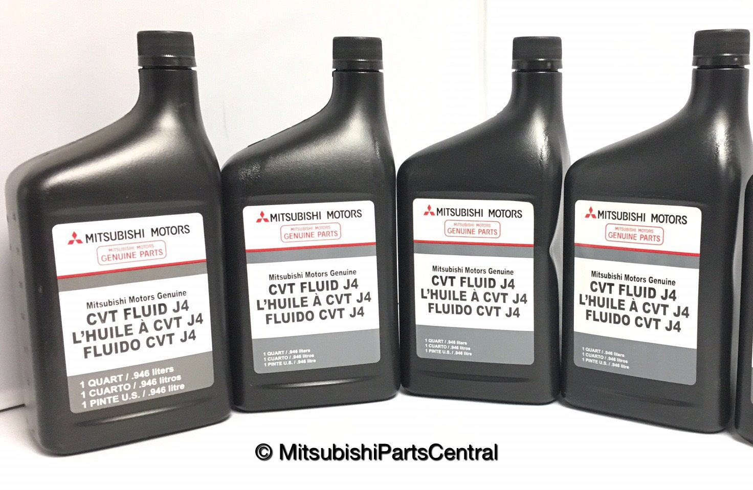 Genuine Mitsubishi J4 (J1) CVT Transmission Fluid - 4 Quarts - MZ320185 Lancer Outlander & Sport with CVT Transmission