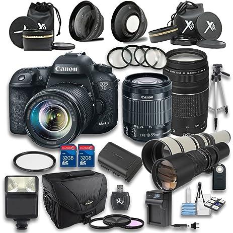amazon com canon 7d mark ii stm dslr camera 18 55mm is stm lens rh amazon com Canon 7D Mark II Focus Points D300