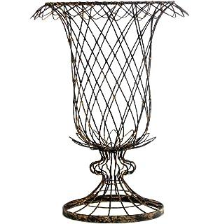 Etonnant Pair French Country Urn Shaped Tulip Basket Vase Planter   23 Inch