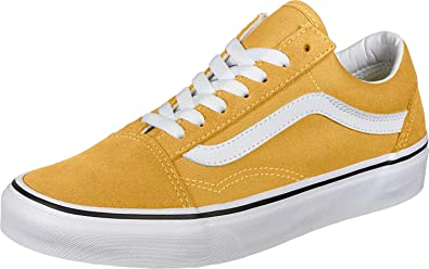 Vans Old Skool Baskets Mode Hommes Jaune Baskets Basses