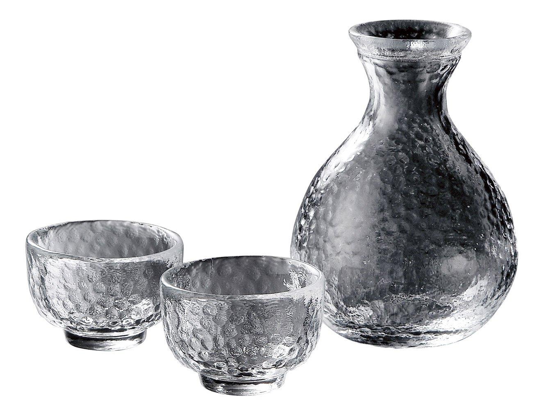 Kamakura Sake Set KK-6139-29 by Yoshitani Glass