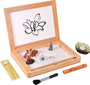 BangBangDa Meditation Gifts Zen Garden Board – Home Zen Decor Office Zen – Zen Relaxing Art Water Painting Board – Zen Gifts for Man Women - Unique Stress Relief Gifts for Adults