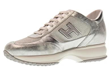 03158c54824 Hogan Shoes Woman Low Sneakers HXW00N03242IG6B200 Interactive Size 38 Silver