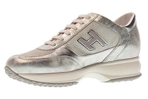 Hogan Scarpe Donna Sneakers Basse HXW00N03242IG6B200 Interactive  Amazon.it   Scarpe e borse 8982c6b4ec6