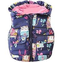 SMARTLADY 1- 4 años Invierno Bebe Niñas Chaleco con capucha Chaquetas de Cremallera Abrigo de ropa,Animales Estilo Ropa