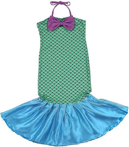 Kitechildhood - Disfraz de Princesa de Cola de Sirena con Lazo ...
