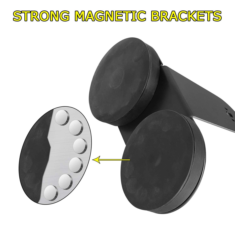 Magnetic led light bar mount Yvoone-Auto 2PCS Universal LED Light Bar Mounting Brackets Sucker Holder For Universal LED Light Bar Work Light