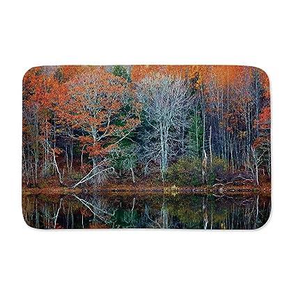 Amazon.com: YOLIYANA Leaves Entrance Door Mat,Magical Forest ...