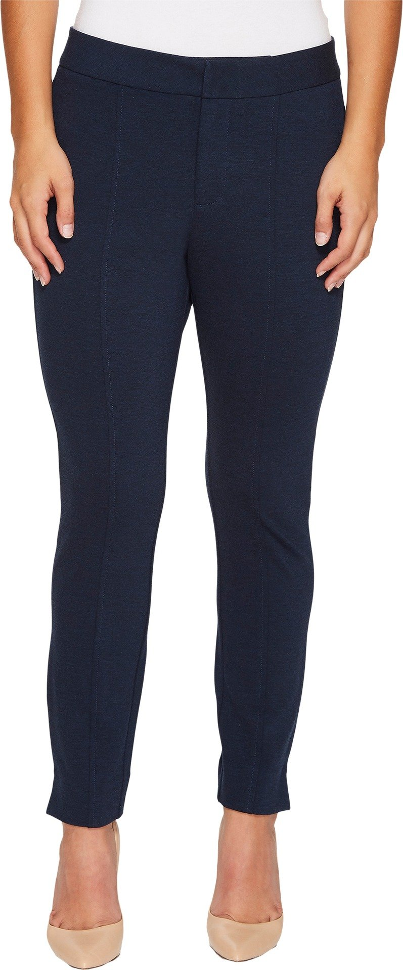 NYDJ Women's Petite Size Ponte Knit Ankle Pants, Peacoat Heather, 10P