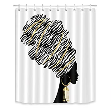 66 Width Abstract Skull Art Bathroom 100/% Polyester Shower Curtain Height x 72