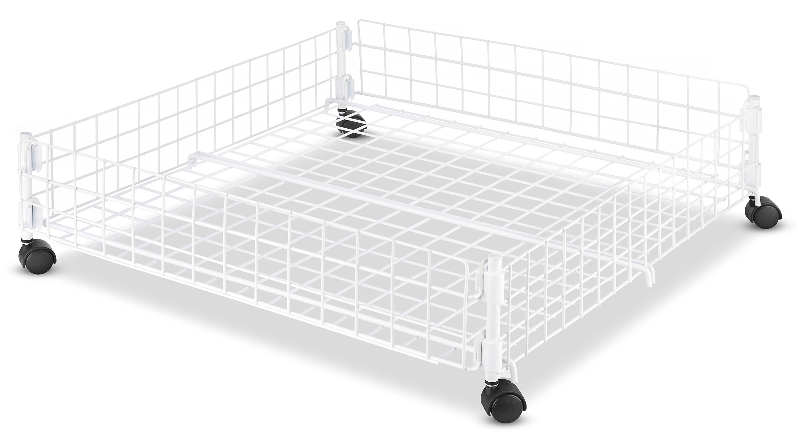 Whitmor Rolling White Wire Underbed Cart by Whitmor