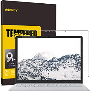 Adeway Microsoft Surface Laptop 3/2/1 Screen Protector 13.5 inch,Anti fingerprint,High Sensivity,Easy Installation, Tempered Glass Screen Protector for Surface Laptop3 (13.5