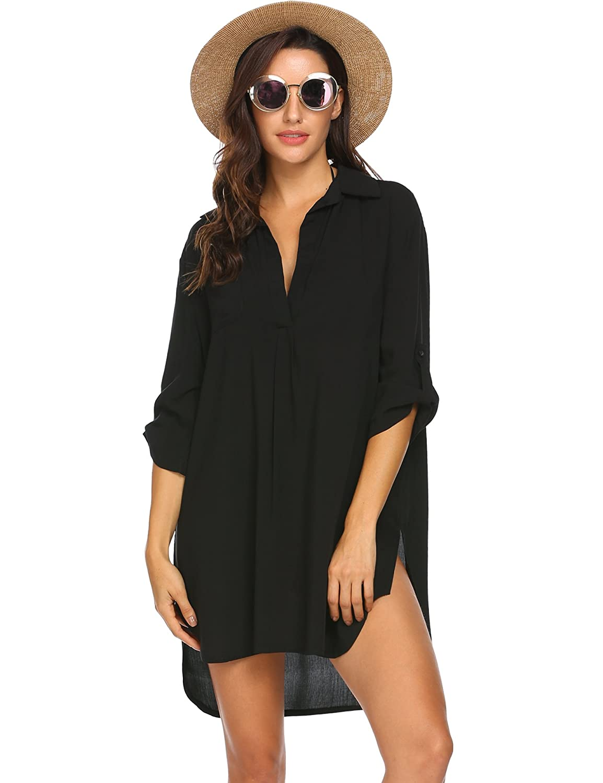 trudge Damen Badeanzug Bikini Cover Up Strandponcho Beachwear Bathing Suits Sommer Bademode Bohemian Tunika Plus Size