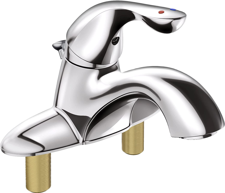 Delta Faucet 525LF-MPU Classic Single Handle Bathroom Faucet, Chrome ...