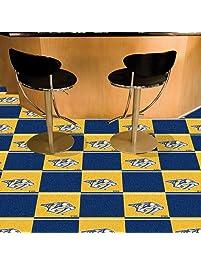 Fanmats NHL Nashville Predators Team Carpet Tiles, Small, Black