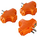 3-Outlet Grounding Adapter, Kasonic [UL Listed] Plug Extender; Heavy-Duty Grounded Power Tap - 3 Pack