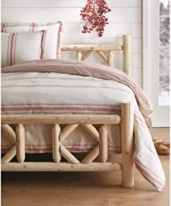 CASTLECREEK Log Bed Frame, Wood Queen Bed Frame with Headboard