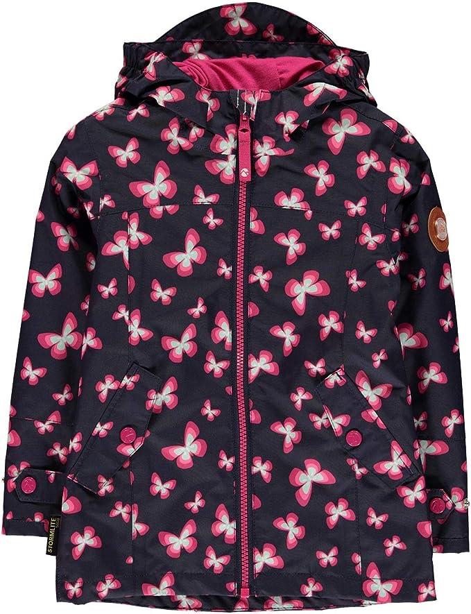 Gelert Kids Girls Packaway Jacket Junior Waterproof Coat Top Breathable