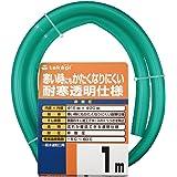 タカギ(takagi) ホース 耐寒ソフトクリア15×20 001M 1m 非耐圧 透明 耐寒 PH20015CD001TM 【安心の2年間保証】