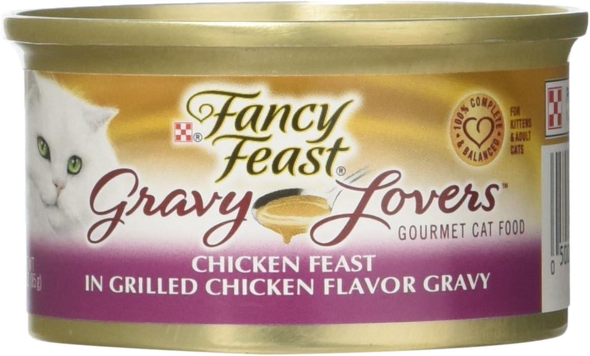 Fancy Feast Gravy Lovers Chicken Feast In Grilled Chicken Flavor Gravy Gourmet Cat Food, Case of 24