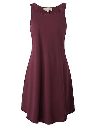 Jack Smith Women s Loose Fitted Casual Tee Shirt Dress KK627-2(Wine ... 88edc9aee