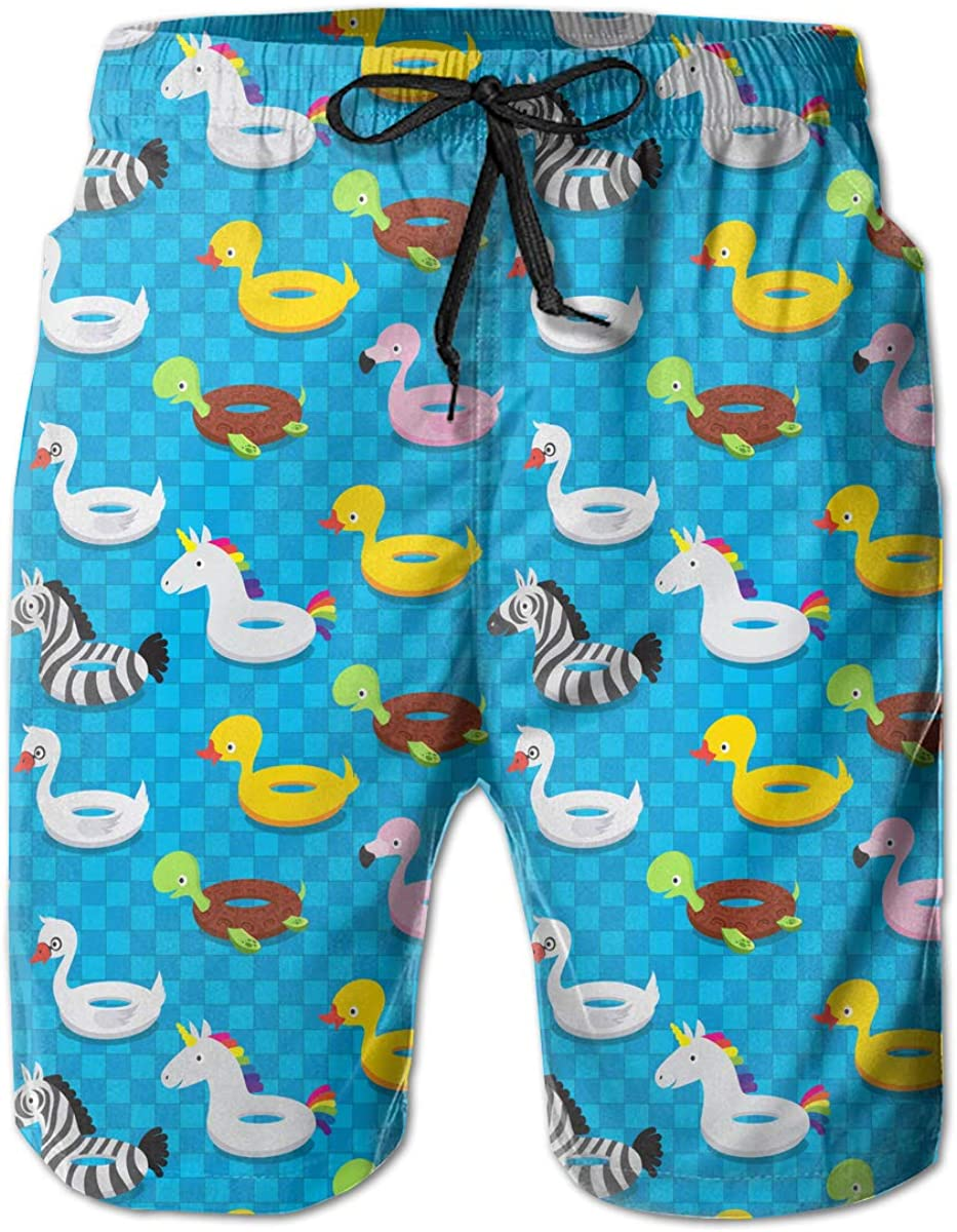Mens Animal Rubber Toys Pattern Board Shorts Beach Pants