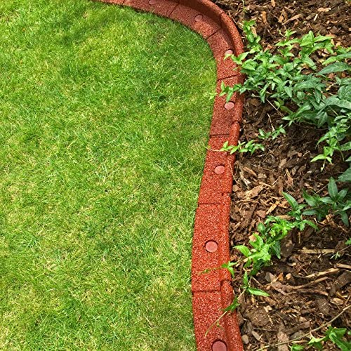 Flexiborder - Bordillo flexible de jardín para césped, resistente ...