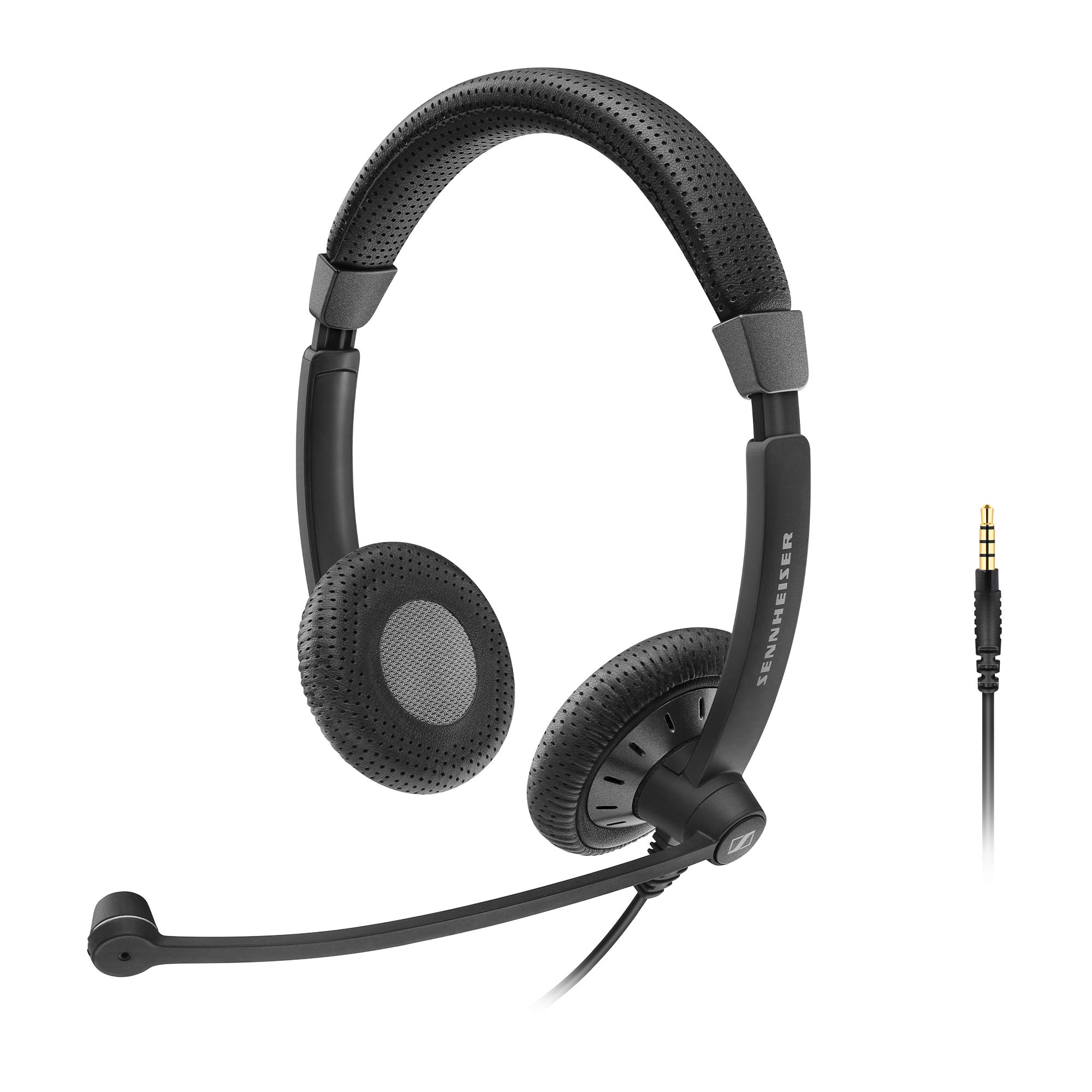 Sennheiser SC 75 (507085) - Double-Sided Business Headset | For Mobile Phone and Tablet | with HD Sound & Noise-Cancelling Microphone (Black) by Sennheiser Enterprise Solution (Image #1)