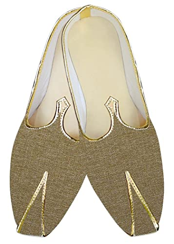 Mens Tan Jute Polyester Wedding Shoes MJ015146
