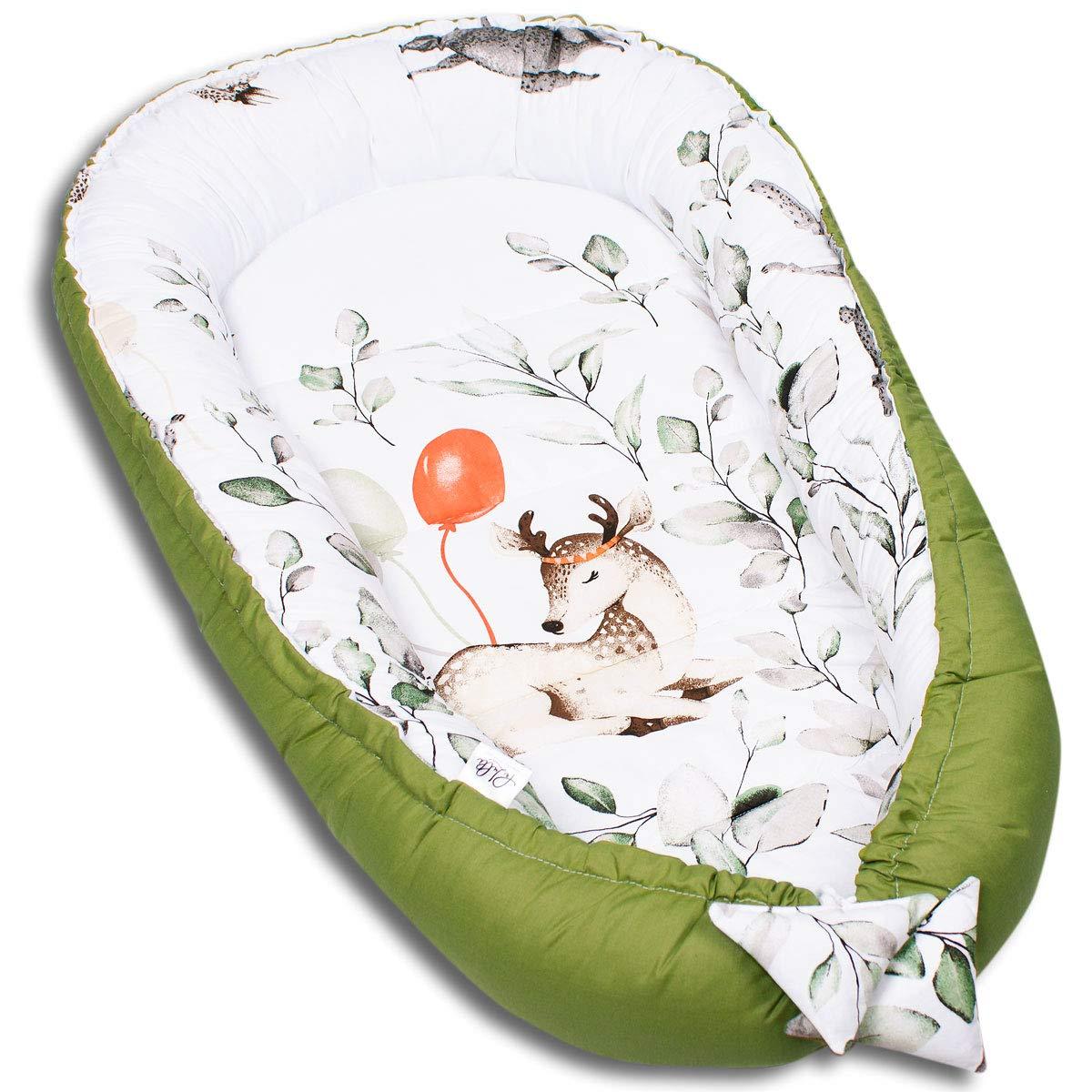 herausnehmbarer Einsatz 5tlg Krabbledecke Schmeterrling-Kissen PALULLI Kuschelnest-Set inkl Babynest 90x50 Flachkissen 100/% OEKO TEX