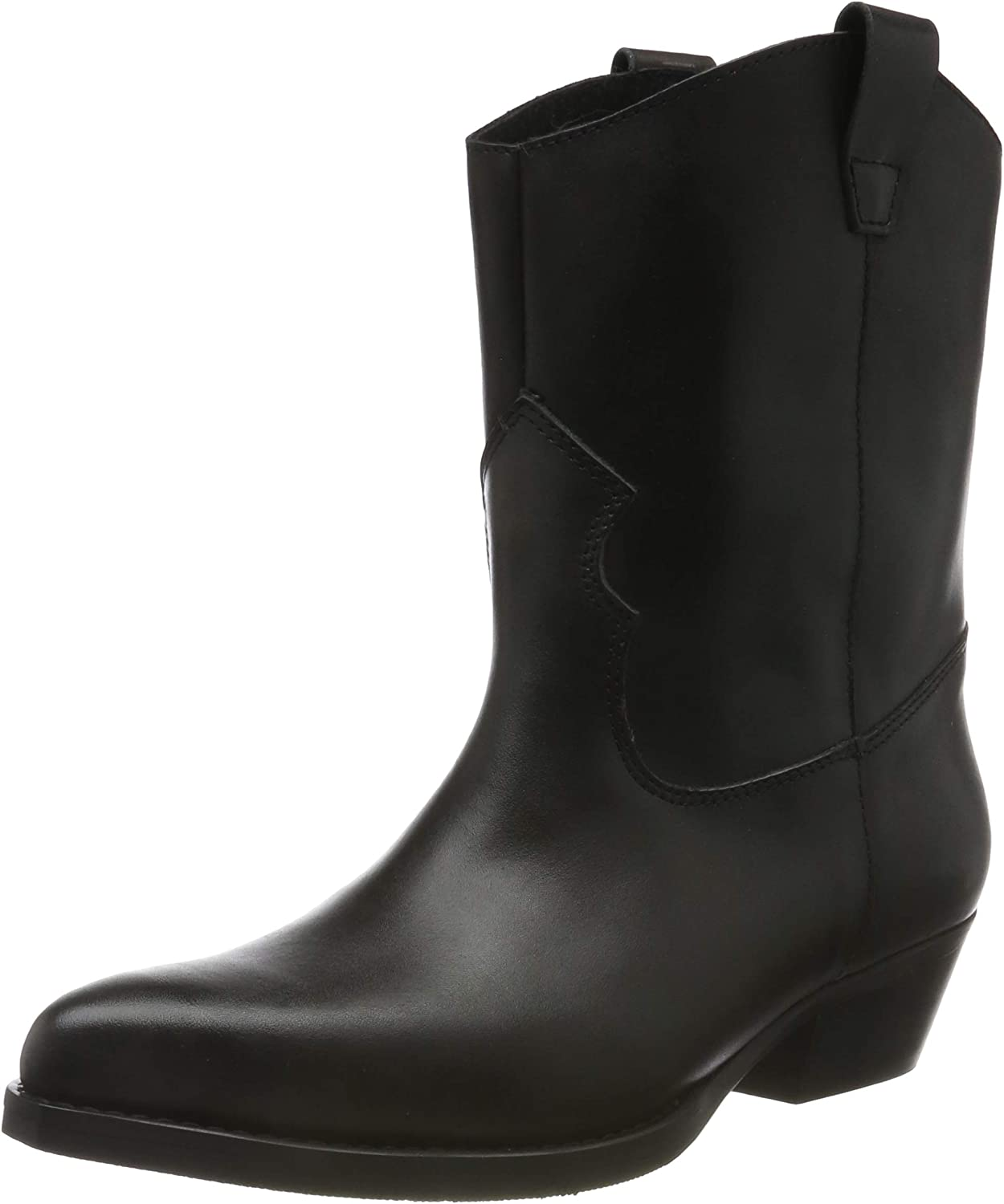 PIECES Psheart Leather Boot, Botas Camperas para Mujer